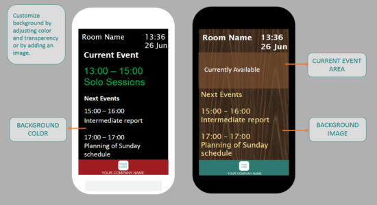Meeting Room Schedule - Background Customization