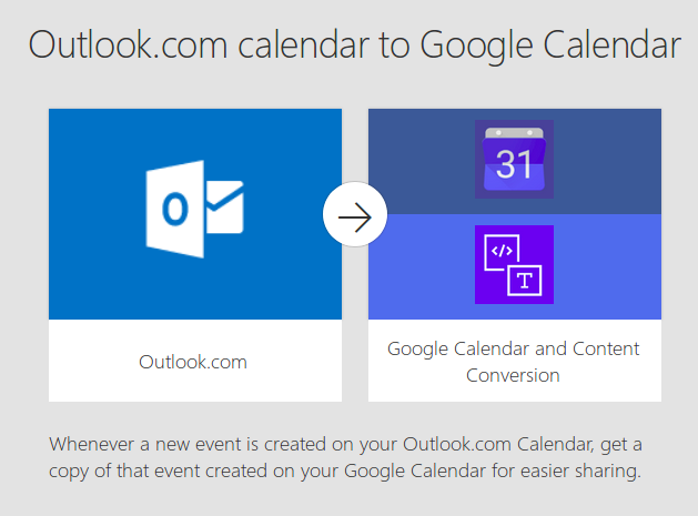 microsoft flow to sync outlook and google calanders