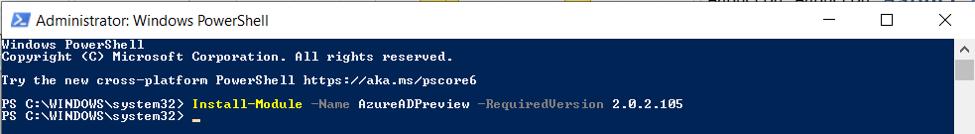 Run Windows PowerShell an as administrator
